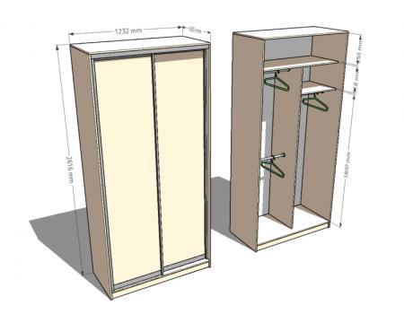 шкаф двухдверный 1