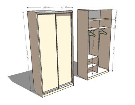 шкаф двухдверный 2