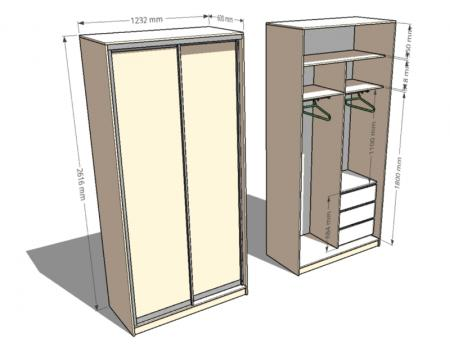 шкаф двухдверный 3