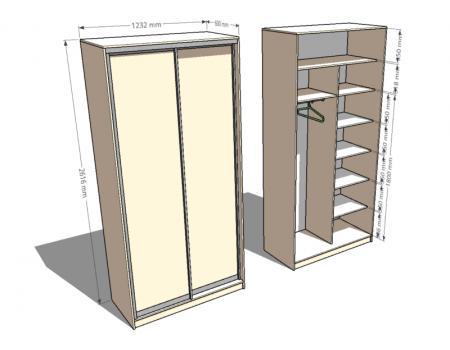 шкаф двухдверный 4