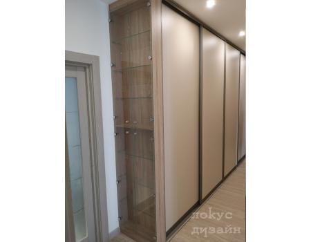 распашной стеклянный шкаф